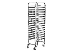 16 Tier GN Pans Trolley