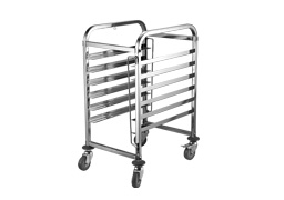 6 Tier bakery bun pan trolley