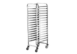 16 Tier bakery bun pan trolley